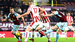 Burnley's Ashley Barnes scored the only goal of the game