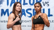 Katie Taylor and Jessica McCaskill square up ahead of tonight's world title fight