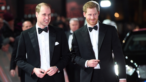William and Harry looked dapper as they made their way up the red carpet