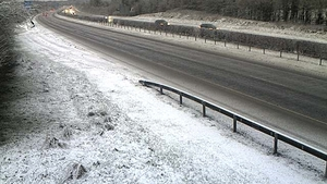 Snow on the M7 at Portlaoise