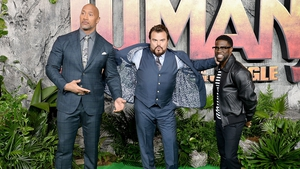 Jumanji: Welcome to the Jungle stars: The Rock, Jack Black and Kevin Hart