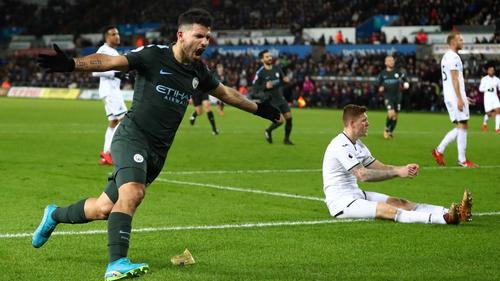 Sergio Aguero claimed City's fourth
