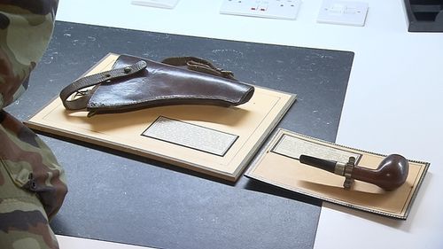 The holster worn by Michael Collins on the day of his death