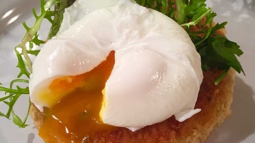 Kevin Dundon's recipe for Smoked Salmon Potato Cakes with Poached Egg