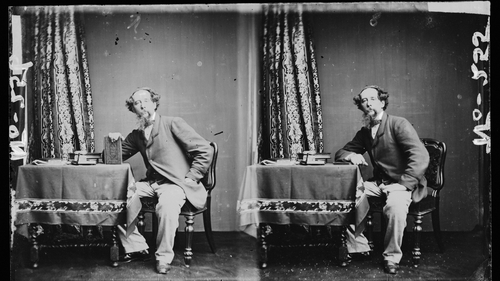 What the Dickens? Two portraits of Charles Dickens from cica 1860. Photo: Hulton Archive/Getty Images