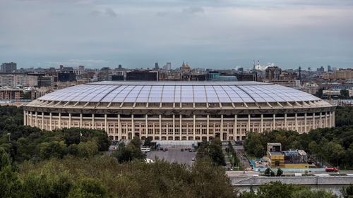 The Luzhniki Stadium in Moscow will host the World Cup final on 15 July