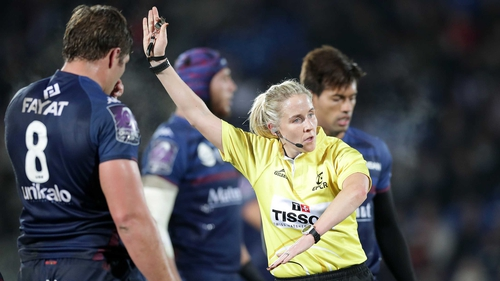 Joy Neville is blazing a trail as a referee on the international stage.