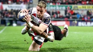 Ulster's Craig Gilroy scores a try