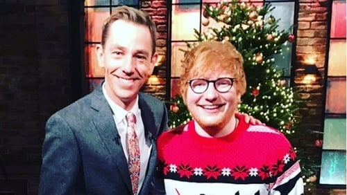 Ed Sheeran joined Ryan Tubridy on The Late Late Show