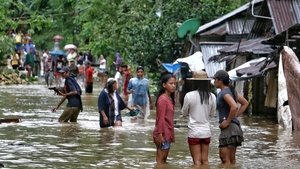 Tens of thousands were driven from their homes by floods as the storm made landfall