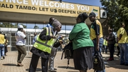 Delegates arrive at the ANC conference for this weekend's vote