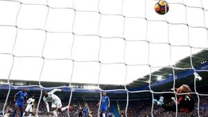 Christian Benteke scores Crystal Palace's opener