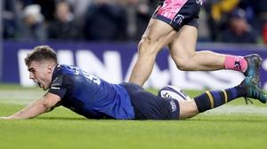 Leinster's Luke McGrath scored the winning try