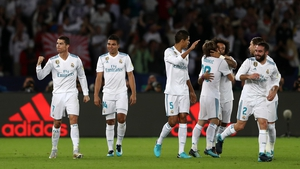 Cristiano Ronaldo celebrates after scoring the only goal in the Club World Cup final