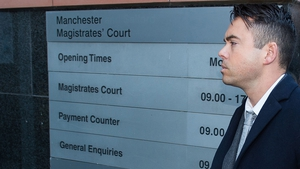 Bruno Langley at Manchester Magistrates' Court in November -