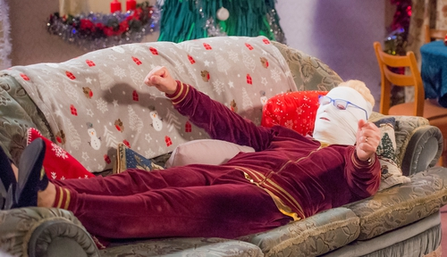 The Mrs Brown's Boys Christmas Special, Mammy's Mummy, airs on Christmas Day on RTÉ One at 9pm, and on BBC One at 10pm