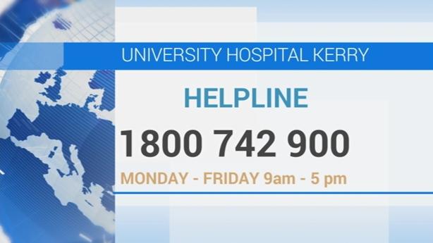 University Hospital Kerry helpline