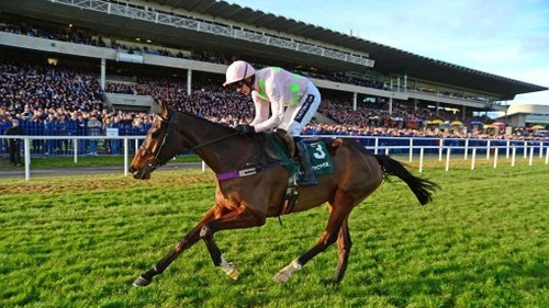 Ruby Walsh riding Douvan to victory in Leopardstown in February