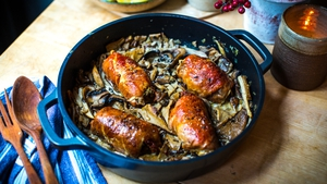 Donal's Rolled Turkey Breast & forest mushrooms