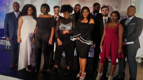 Young people who live in Direct Provision received the awards from President Michael D Higgins