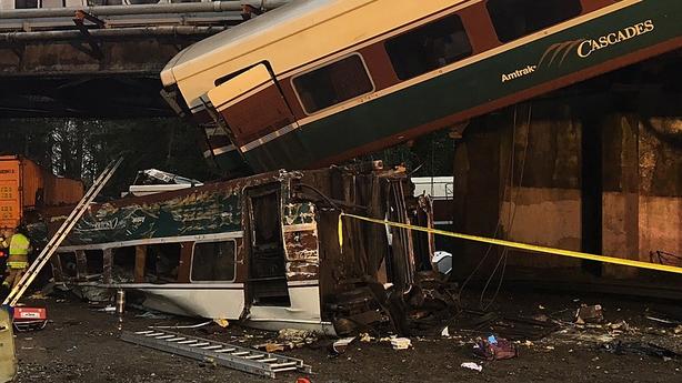 Multiple' deaths after train derails onto US highway