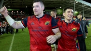 Peter O'Mahony was man of the match, while Ian Keatley (r) kicked 20 points