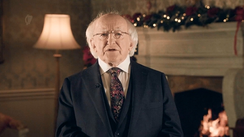President Michael D Higgins said he wanted next year to bring a 'sense of hope' for every person