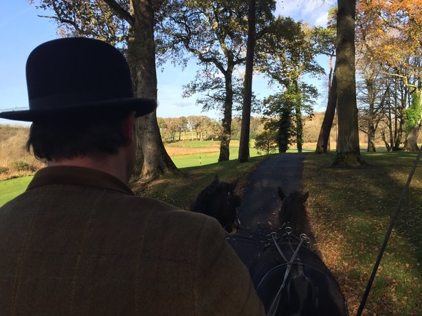 Dromoland Castle trap ride