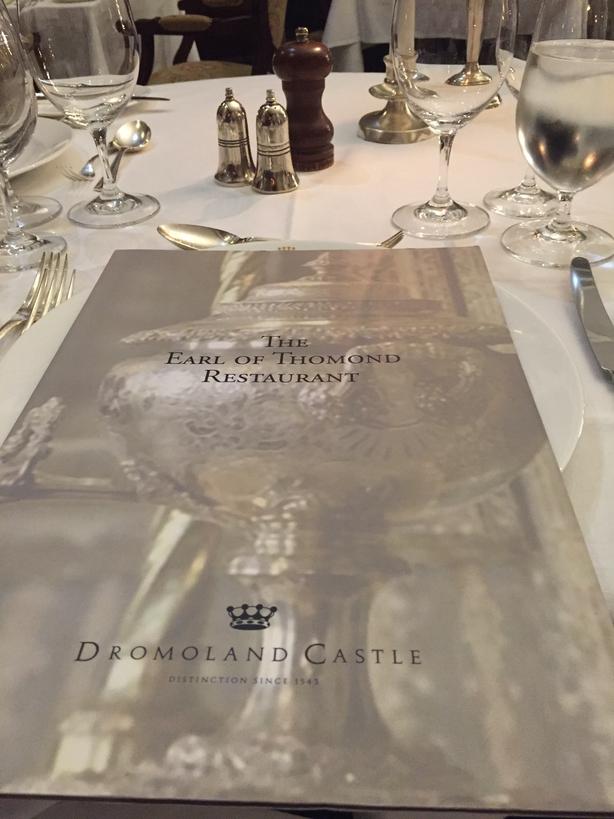 Earl of Thomond menu