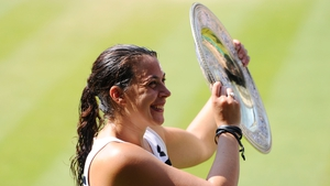 Marion Bartoli pictured after winning the 2013 Wimbledon title.