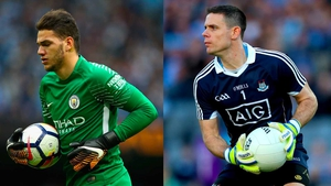 Ederson (L) shares a lot of distribution similarities with Stephen Cluxton