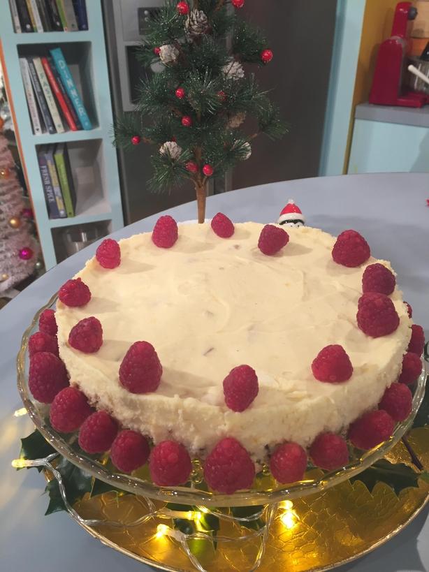 White Chocolate, Raspberry & Ginger Mousse Tart