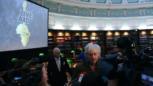 Bob Geldof presented the Band Aid Trust archive to the National Library of Ireland
