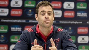 The Munster head coach chats to the media