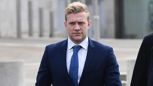 Stuart Olding has denied the charge