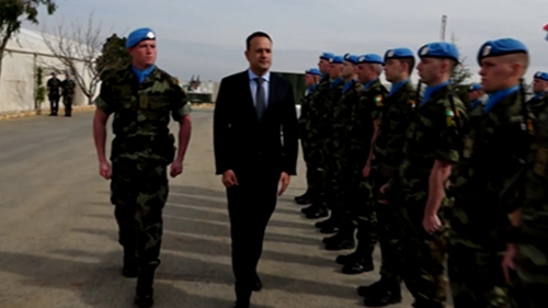 There are 343 Irish soldiers on duty in Lebanon over the Christmas period