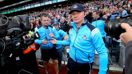 Jim Gavin (R) led Dublin to six All-Ireland titles in his seven years in charge