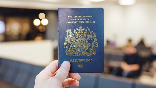 Blue was first used for the cover of the British passport in 1921