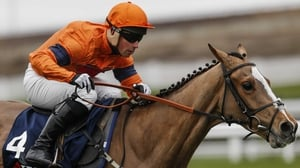 Joe Colliver and Sam Spinner clear the last to win The JLT Reve De Sivola Long Walk Hurdle Race at Ascot