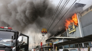 Blaze started at the four-storey NCCC Mallmorning and people were trapped inside