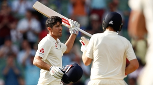 Cook celebrates his long-awaited ton