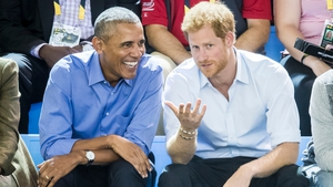 Barack Obama and Britain's Prince Harry at the Invictus Games