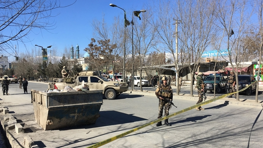 At least 40 people have been killed and 30 wounded in a suicide attack in the Afghan capital, Kabul