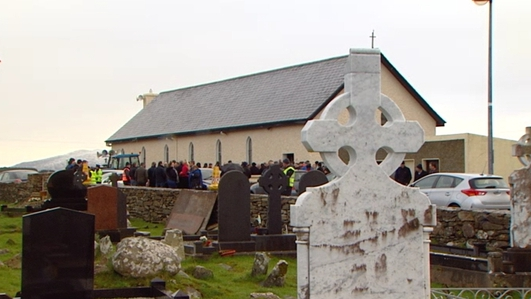 Funeral takes place of one of two young men who died on Christmas Day