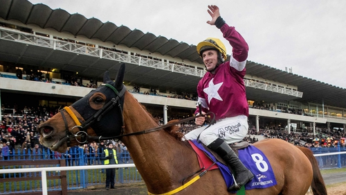 Road To Respect and Sean Flanagan after their win in the Leopardstown Chase