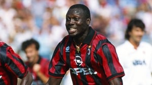 George Weah playing for AC Milan in 1995