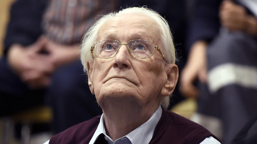 Oskar Groening sorted and counted the money taken from those killed at Auschwitz