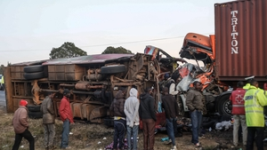 Police said the death toll for the stretch of road where the crash happened has now reached 100 this month alone