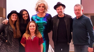 Panti Bliss (centre) with guests (L to R) Aoife Scott, Razan Ibraheem, Niamh McCarthy, Steve Wall and Luka Bloom