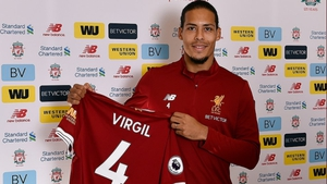 Virgil Van Dijk officially unveiled as a Liverpool player (Picture credit: @LFC Twitter account)